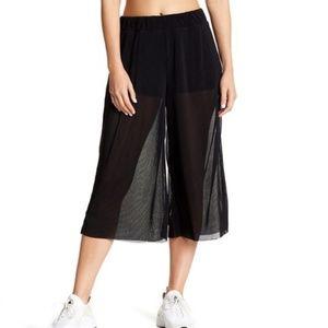 Zella Pleated Mesh Culotte Pants